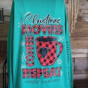 Simply Southern Christmas Coffee Movies Shirt